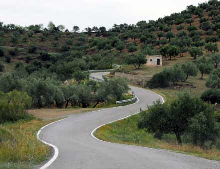 Strasse in Spanien